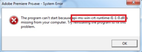 api-ms-win-crt-runtime-l1-1-0.dll System File Missing Error